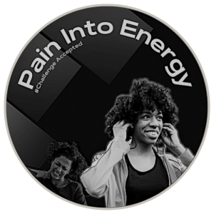 Pain Into Energy Challenge Icon Black and White